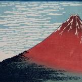 Katsushika Hokusai 'Red Fuji' 1831