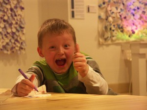 Child enjoying get crafty session