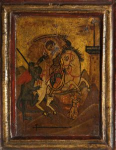 Saint George icon, Blackburn Museum