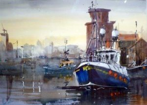 Alan Pedder, Courageous II Peterhead (Watercolour)