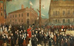 Women in Laying the Foundation Stone to the Cotton Exchange by Catherine McManus