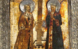 A provincial Russian Icon of Saints Helena and Constantine, ca 1700 by Mike Millward